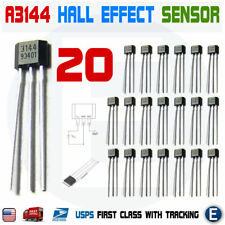 20pcs A3144 A3144E OH3144E A1044 Hall Effect Magnetic Sensor Switch Arduino