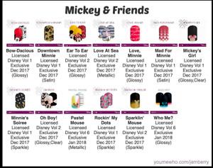 Disney Mickey & Friends Jamberry  Nail Wraps - Half Sheets