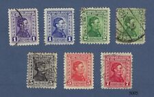 Used stamps from Uruguay - Artigas - 7 different