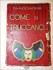 TEATRO CINEMA 1930 TECNICHE TRUCCO Molcianowski : Come si Truccano Hoepli Raro