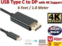 USB C to DP Cable USB3.1 Type C to DisplayPort DP 4K UHD for Apple Macbook .