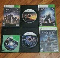 Halo Collection (Xbox 360) Halo 3 4 REACH ODST WARS Lot of 5 Games