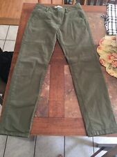 VANS Ladies Juniors Pants Size One 1 Green Excellent Condition Straight Leg