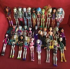 Lot Of 30 Monster High Dolls W/ Clothes, Accessories, Stands, Boys, Purses,Shoes
