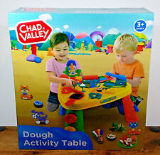 CHAD VALLEY MEGA DOUGH TABLE INCLUDING 6 POTS OF DOH ACCESSORIES. LEGS REMOVE