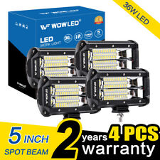 """WOW - 2x 4x 5"""" LED Work Light Bar Offroad Roof Driving Lamp Truck Car 4WD UTE"""