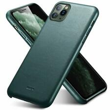 iPhone 11 Pro Case Slim Real Leather Anti Scratch Cover Wireless Charging Green
