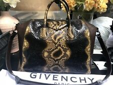 af7efd0eb27b Limited Edition Givenchy Antigona Extra Large Python Leather Duffle  Shoulder Bag