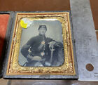 Authentic Civil War Tintype Photograph High Quality Civil War Officer With Sword