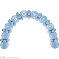 64 pezzi New Baby Shower Blue Boy Lattice Party Palloncino Arch Kit Di Decorazione