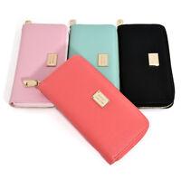 Women Zipper Long Purse Ladies Leather Clutch Coin Phone Bag Wallet Card Holder