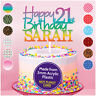 PERSONALISED Happy 21st Birthday Acrylic Cake Topper ANY NAME AGE 18 30 40 50 60