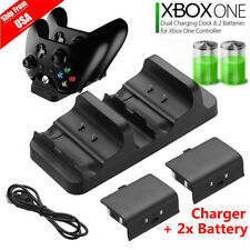 For XBOX ONE Dual Charging Dock Station Controller Charger w/ 2 Battery USB