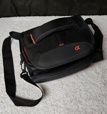 Genuine Sony Alpha Protective Carry Bag Case Black & Orange