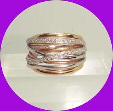 Unique 14k Gold Diamond Ring-- Size 9.25