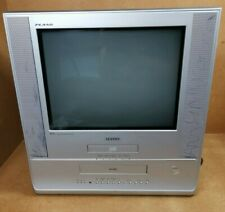 """Samsung 17"""" CRT Television TV VCR Video Player DVD Combo Retro Gaming UW-17J11VD"""