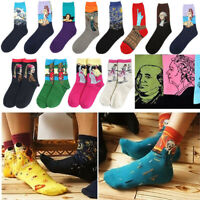 High Quality Women Men Cotton Socks Mural Art Casual Socks Unisex Paintings Sock