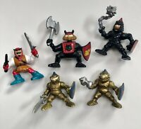 Vintage Fisher Price Great Adventure Castle  Knights Gold & Black 5 Figures
