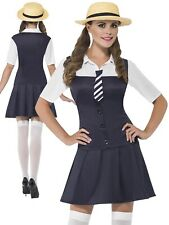Ladies School Girl Costume Adults Sexy St Trinians Fancy Dress Womens New
