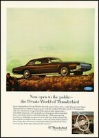 1963 FORD THUNDERBIRD 390 V-8 Convertible Car Vintage Look REPLICA METAL SIGN