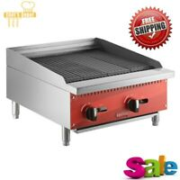 """24"""" Natural Gas Radiant Commercial Restaurant Kitchen Countertop Charbroiler"""