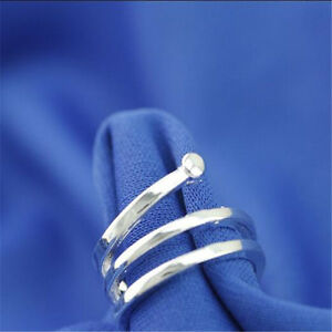 925 Solid Sterling Silver Plated Women/Men NEW Fashion Ring Gift SIZE OPEN H211