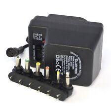 Lloytron A1506BK 300mA Unregulated AC/DC Multi Voltage Universal Adaptor, 3 Pins