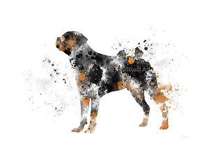 ART PRINT Rottweiler illustration, Pet, Dog, Animal, Wall Art, Home Decor, Gift