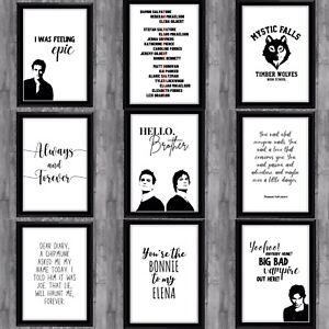 The Vampire Diaries Originals Tv Series Poster Print Wall Decor Gift Damon Stef