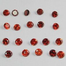 TAUBENBLÜTROT 2mm KALIBRIERTE JUWELIERSTEINE 5 x RUBINE 0,20ct