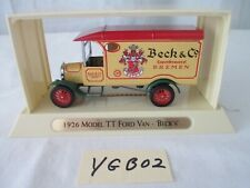 1926 Model Tt Ford Van Beck's Ygb02 Matchbox Great Beers of the World Series New