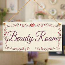 Beauty Room - Small Hanging Door Sign For Home Beauty / Hair Salon Plaque