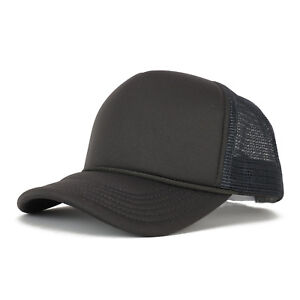Kid's Youth Size 5 Panel Structured Foam Mesh Trucker Cap - FREE SHIPPING