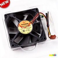 Thermaltake 80x25mm 3-Pin CPU Case Fan DC 12V 0.40AMP TT-8025T Brushless Black