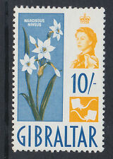 Gibilterra 1960 10 / - yellow & blue SG 172 MNH.