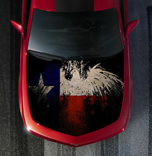 H52 TEXAS FLAG EAGLE Hood Wrap Wraps Decal Sticker Tint Vinyl Image Graphic