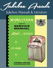 New! Wurlitzer Model 2000 Service Manual & Parts Lists from Jukebox Arcade