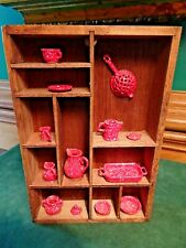 Kelly & Howard Ny Miniature Doll House Kitchen Items In Shelves Wall Hanging, Re