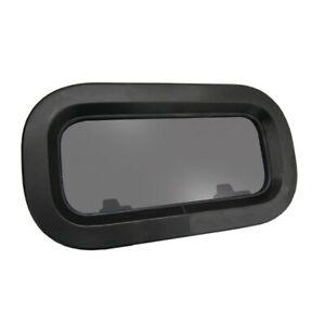 Lewmar Standard 0 Bootsfenster 176x323  außen schwarz, innen weiss Portlight