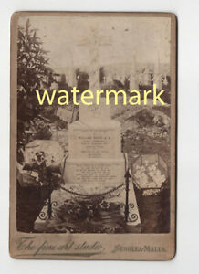 Royal Navy sailor's grave, HMS Formidable, 1907, military, Malta, Cabinet Photo