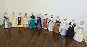 "Set 12 U.S. Historical Society Great American Women 6"" Half-Doll/Figurines MIB"