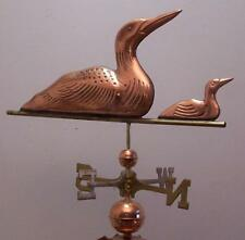 Copper loon and chick swimming weathervane, All Parts,sold as shown. No mount