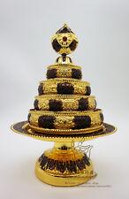 Tibet Tibetan Buddhism Altar - Mandala Manza Set Tray Gilded Buddhist Offering 2