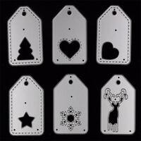 Cards Tag Metal Cutting Dies Embossing Stencil Scrapbooking DIY Christmas Craft