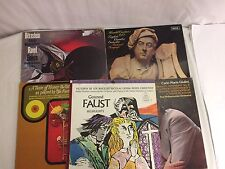 5 Records Vinyl Albums Vintage Renounded Composers Gounud Faust Ewlini Bonynge