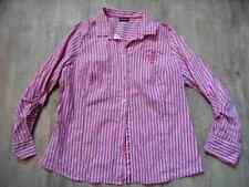 GERRY WEBER edition schöne pink weiß gestreifte Bluse basic fit Gr. 46 NEUw. 717
