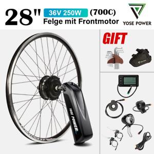 "28"" E-Bike Conversion Kit Frontmotor Umbausatz+36V 15.6Ah Downtube Akku Batterie"