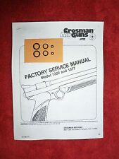Crosman 1322 1377 Factory Service Manual + Two Seal Kits + Exploded View & Guide