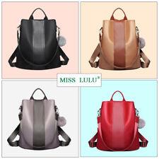 Miss Lulu Ladies Women Nylon Pompom Backpack Handbag Anti-theft Shoulder Bag caf18850fb816