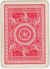 Playing Card Single Card Old Antique Wide BICYCLE TYRE Man Riding Bike Cycling 1